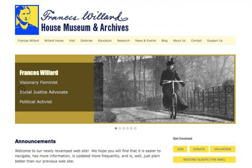 Detail of homepage