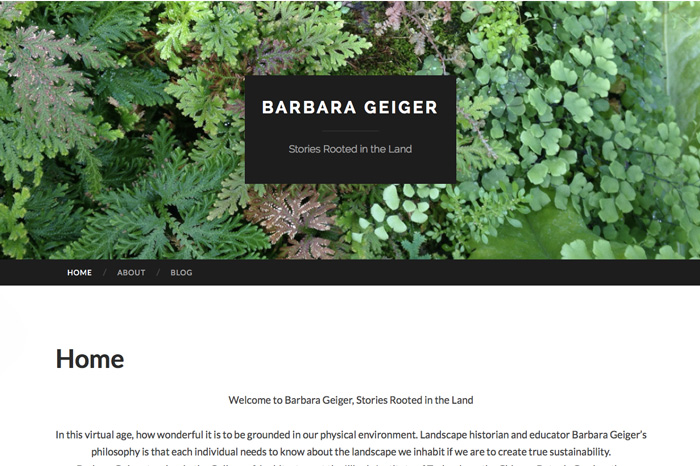 Barbara Geiger home page (work in progress)