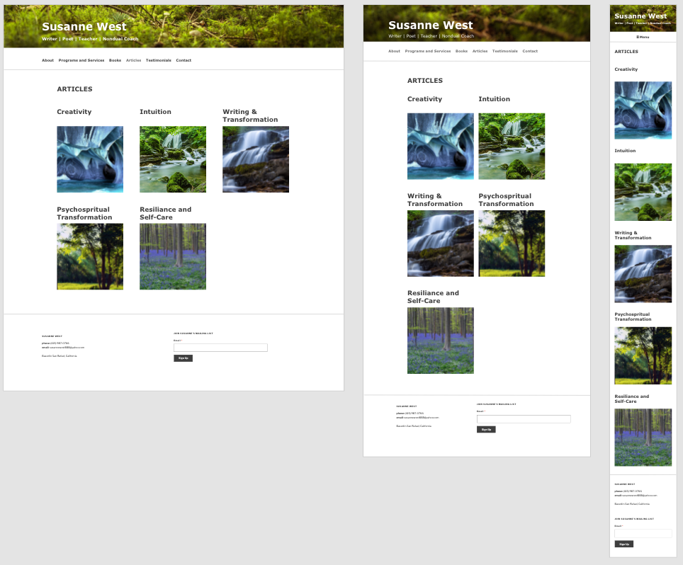 Responsive page layouts, Adobe XD