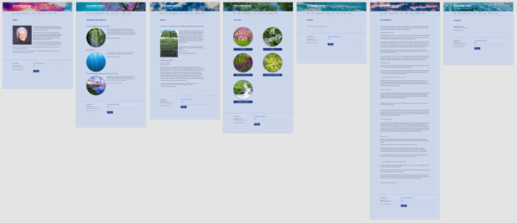 Topic Page Layouts - final, Adobe PhotoShop and XD