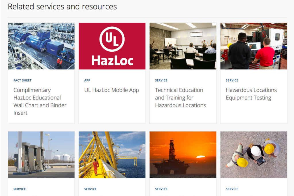 UL.com services and resources for Hazardous Locations