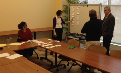 Card sorting with stakeholders
