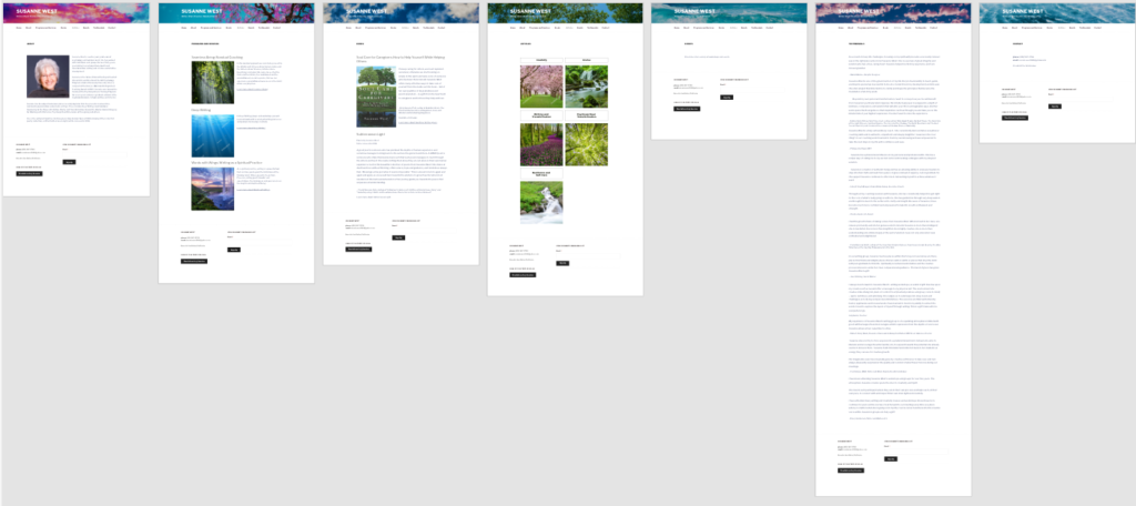 Topic Page Layouts - version 1, Adobe PhotoShop and XD